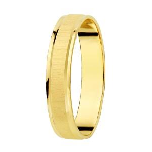 Alianza Oro Amarillo Mate Brillo 3.5mm
