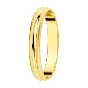 Alianza Oro Amarillo Mate Brillo 3mm