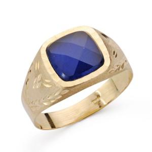 Sello Oro Piedra Azul