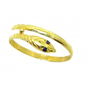Sortija Oro Serpiente