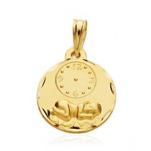 Medalla de hora tallada, Oro 18K
