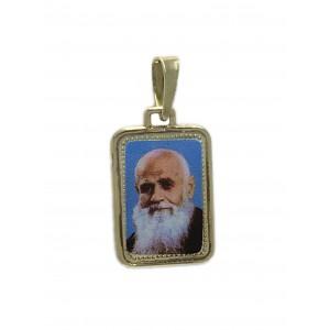 Medalla Oro 18K Fray Leopoldo esmalte