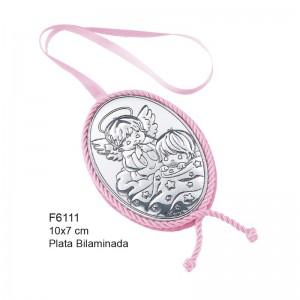 Medalla de Cuna, Plata de Bilaminada - Modelo Angelitos