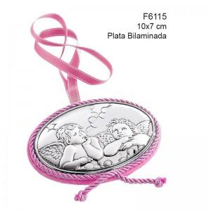 Medalla de Cuna, Plata de Bilaminada - Modelo Angeles de la guarda