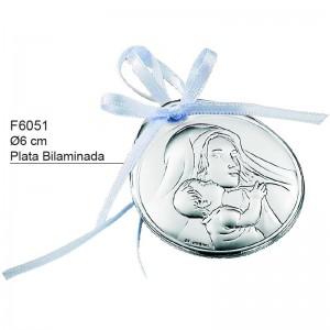 Medalla de Cuna, Plata de Bilaminada - Modelo Virgen Madre