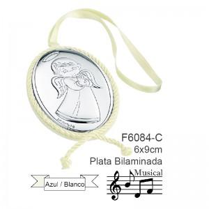 Medalla de Cuna, Plata de Bilaminada con sonido integrado - Modelo Angelito