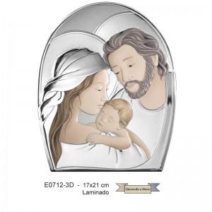 Cuadro de plata, Modelo San José, Virgen María y Jesús.