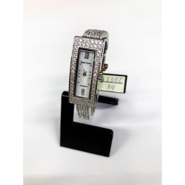 Reloj Royal Crown de Acero y Circonitas