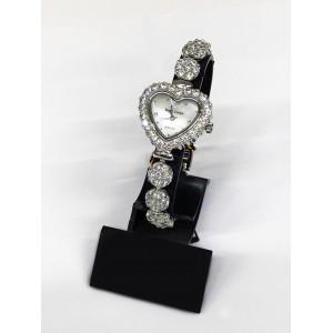 Reloj Royal Crown de Acero y Circonitas, forma de corazón