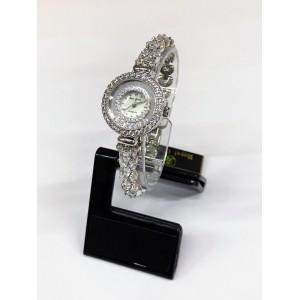 Reloj Royal Crown de Acero y Circonitas con doble esfera.