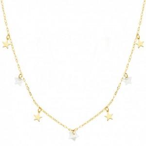 Gargantilla Estrellas Oro - Nacar
